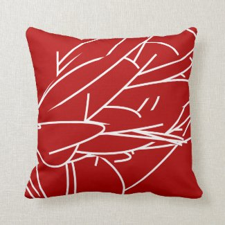 Abstract Minimalist Design | Red Cushion