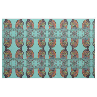 Abstract Mirrored Monarch Pattern Fabric
