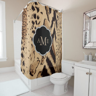 Abstract Mixed Animal Prints - Personalized Shower Curtain