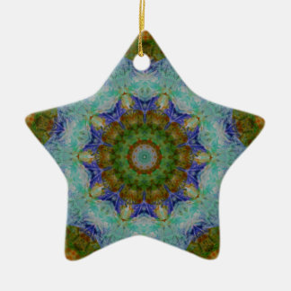 Abstract Mixed Media two Ceramic Star Decoration