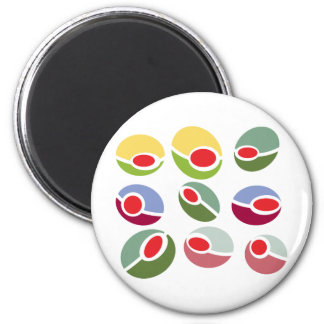 Abstract Mod Olives 6 Cm Round Magnet
