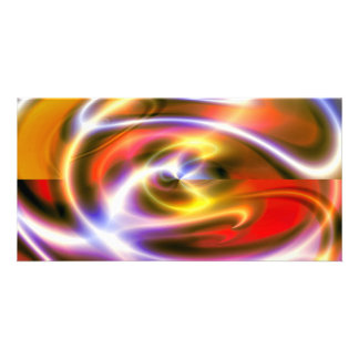 Abstract Modern Art Digital Photo Card
