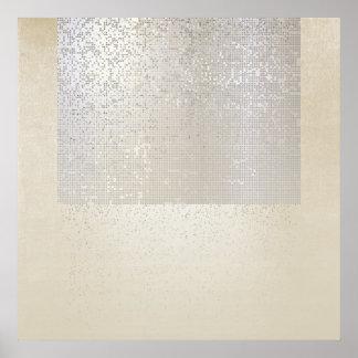 Abstract Modern Art Geometric Binary Cyber Poster
