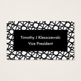 Abstract Modern Black Diamond interlocking lines