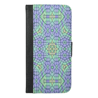 Abstract modern color pattern iPhone 6/6s plus wallet case