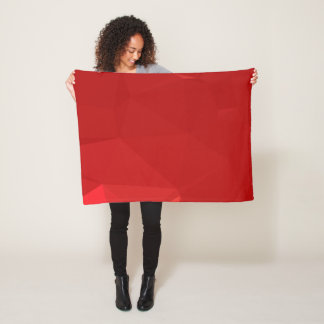 Abstract & Modern Geo Designs - Strawberry Love Fleece Blanket