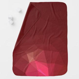 Abstract & Modern Geometric Designs - Scarlet Rose Baby Blanket