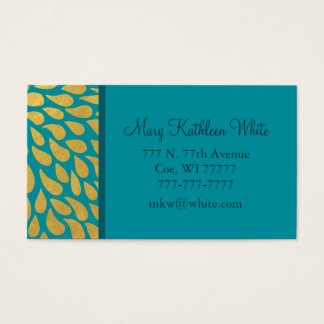 Abstract, Modern Gold Droplets Business Card