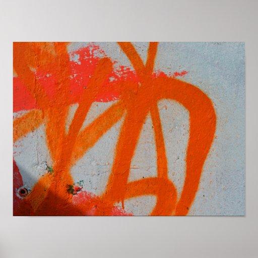 Abstract modern graffiti art close up poster
