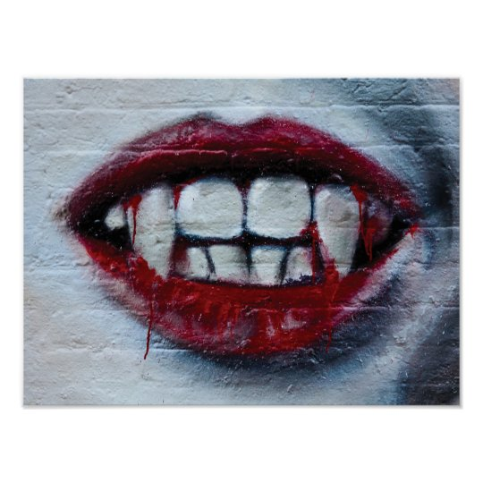 Abstract modern graffiti art close up poster