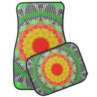 Abstract modern pattern car mat