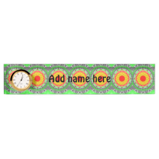 Abstract modern pattern name plate