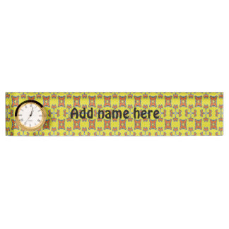 Abstract modern pattern nameplate