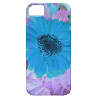Abstract Modern Pink Blue Pastel Gerber Daisy Case For The iPhone 5