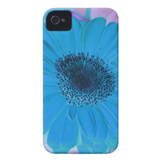 Abstract Modern Pink Blue Pastel Gerber Daisy iPhone 4 Case-Mate Cases