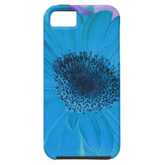 Abstract Modern Pink Blue Pastel Gerber Daisy Tough iPhone 5 Case