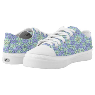 Abstract modern stylish blue pattern low tops