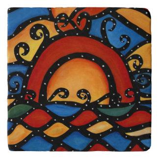 Abstract Modern Sunset Trivets