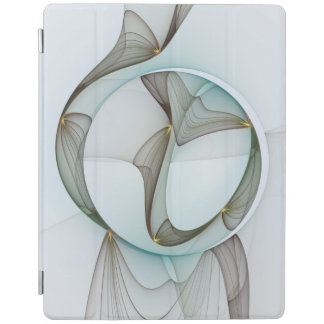 Abstract Modern Turquoise Brown Gold Elegance iPad Cover