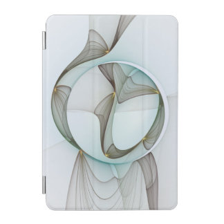 Abstract Modern Turquoise Brown Gold Elegance iPad Mini Cover