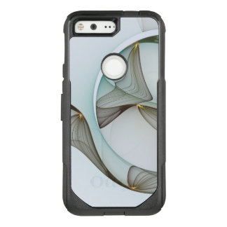 Abstract Modern Turquoise Brown Gold Elegance OtterBox Commuter Google Pixel Case