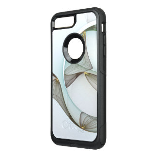 Abstract Modern Turquoise Brown Gold Elegance OtterBox Commuter iPhone 8 Plus/7 Plus Case