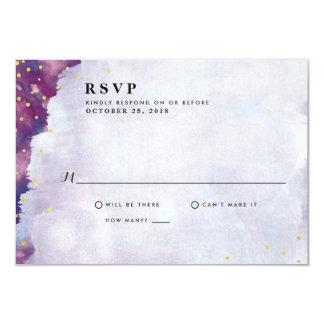 Abstract Modern Watercolor Wedding RSVP Cards