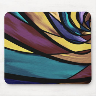 Abstract Modernism Stained Glass Mousepad