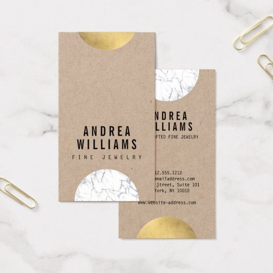 Abstract Modernist Marble, Gold Designer Business Card