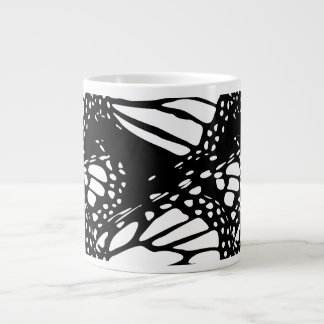 Abstract Monarch Butterfly Design Large Coffee Mug