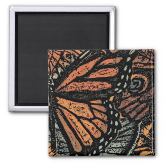 Abstract Monarch Butterfly Refrigerator Magnet