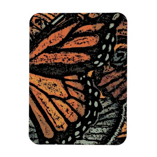 Abstract Monarch Butterfly Rectangular Magnet