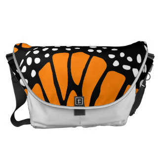 Abstract Monarch Butterfly Wing Design Messenger Bag