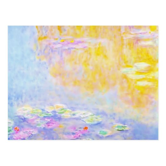 abstract, monet water lilies 7 postcard