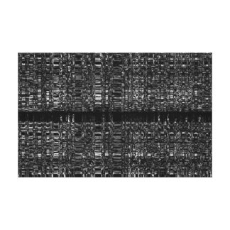 Abstract mono chain pattern stretched canvas print
