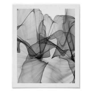 Abstract Monochrome Poster   8x10