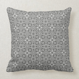 Abstract monochrome stars throw pillow