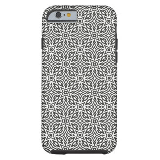 Abstract monochrome stars tough iPhone 6 case