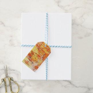 Abstract Monoprint 17025YOS Gift Tag