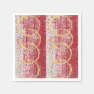 Abstract monoprint Paper Napkin