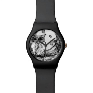 Abstract moody owl watch