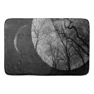 Abstract moon forest customize the color bath mat