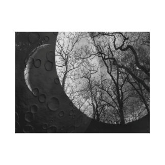 Abstract moon forest customize the color Canvas Canvas Print