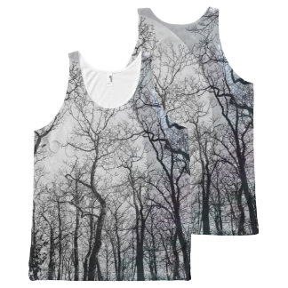 Abstract moon forest customize the color tank