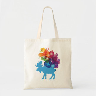 Abstract Moose Budget Tote