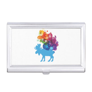 Abstract Moose Business Card Holder