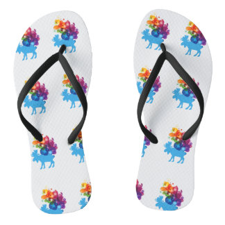 Abstract Moose Flip Flops