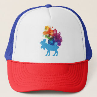 Abstract Moose Trucker Hat