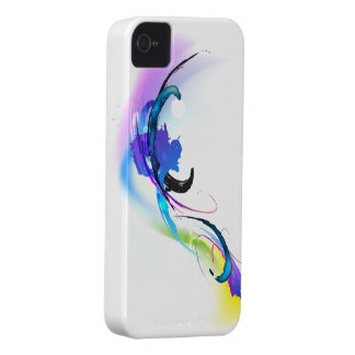 Abstract Morning Glory Paint Splatters iPhone 4 Case-Mate Case