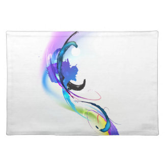 Abstract Morning Glory Paint Splatters Placemat